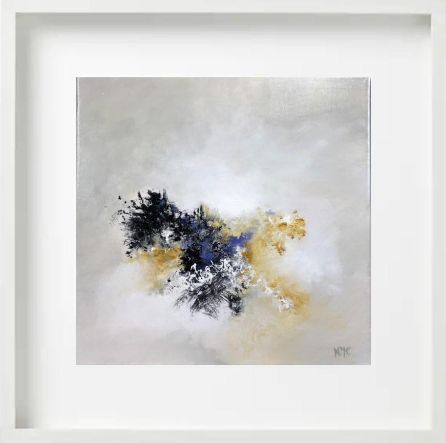 """""""Presence """" H40x40 cm - Framed 52x52 cm - Acrylic on canvas -"""