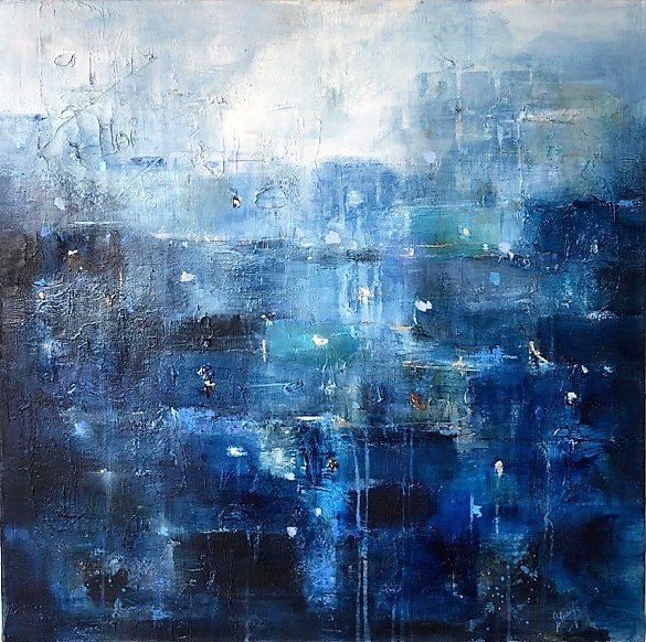 Memories from south 1 H80x80 cm Mixed Media on canvas