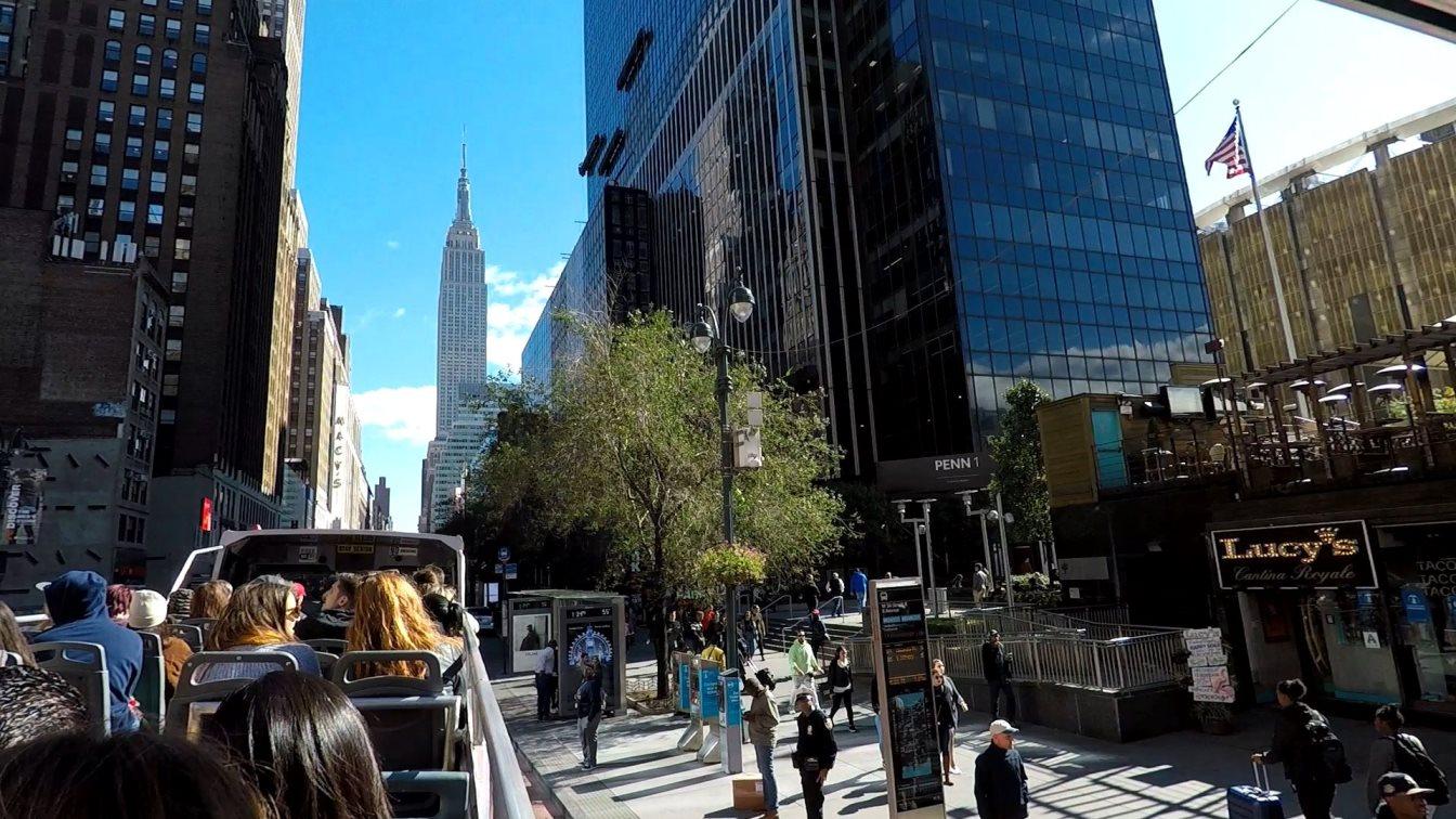 Bustour durch die Straßen von New York