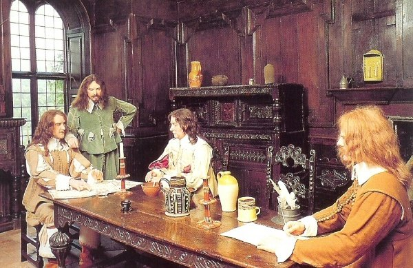 Waxwork tableau in 1980s