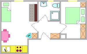 Tloris apartma 7