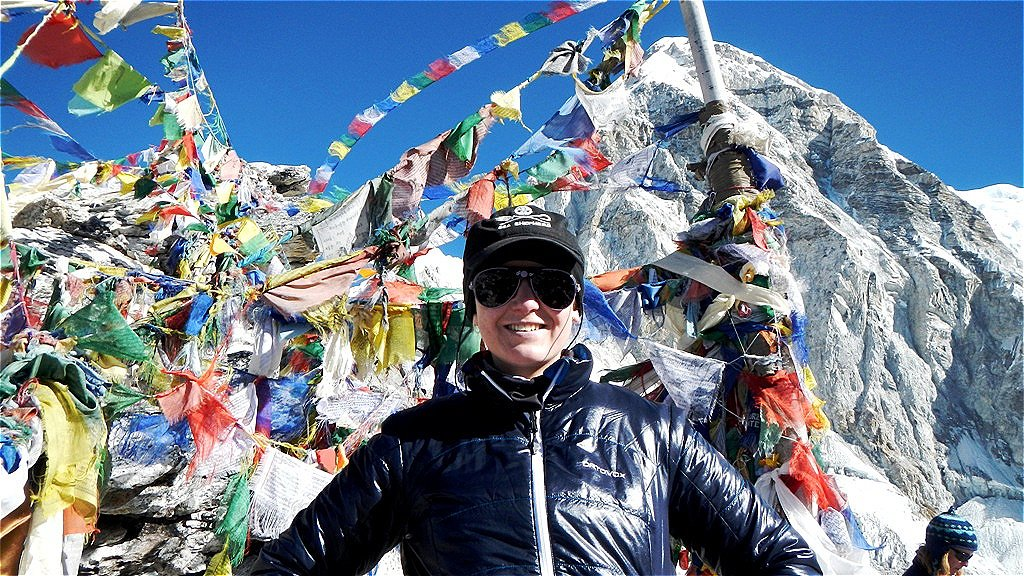 Kala Pathar Gipfel - 5.545 m - März 2013  - dahinter ein Siebentausender