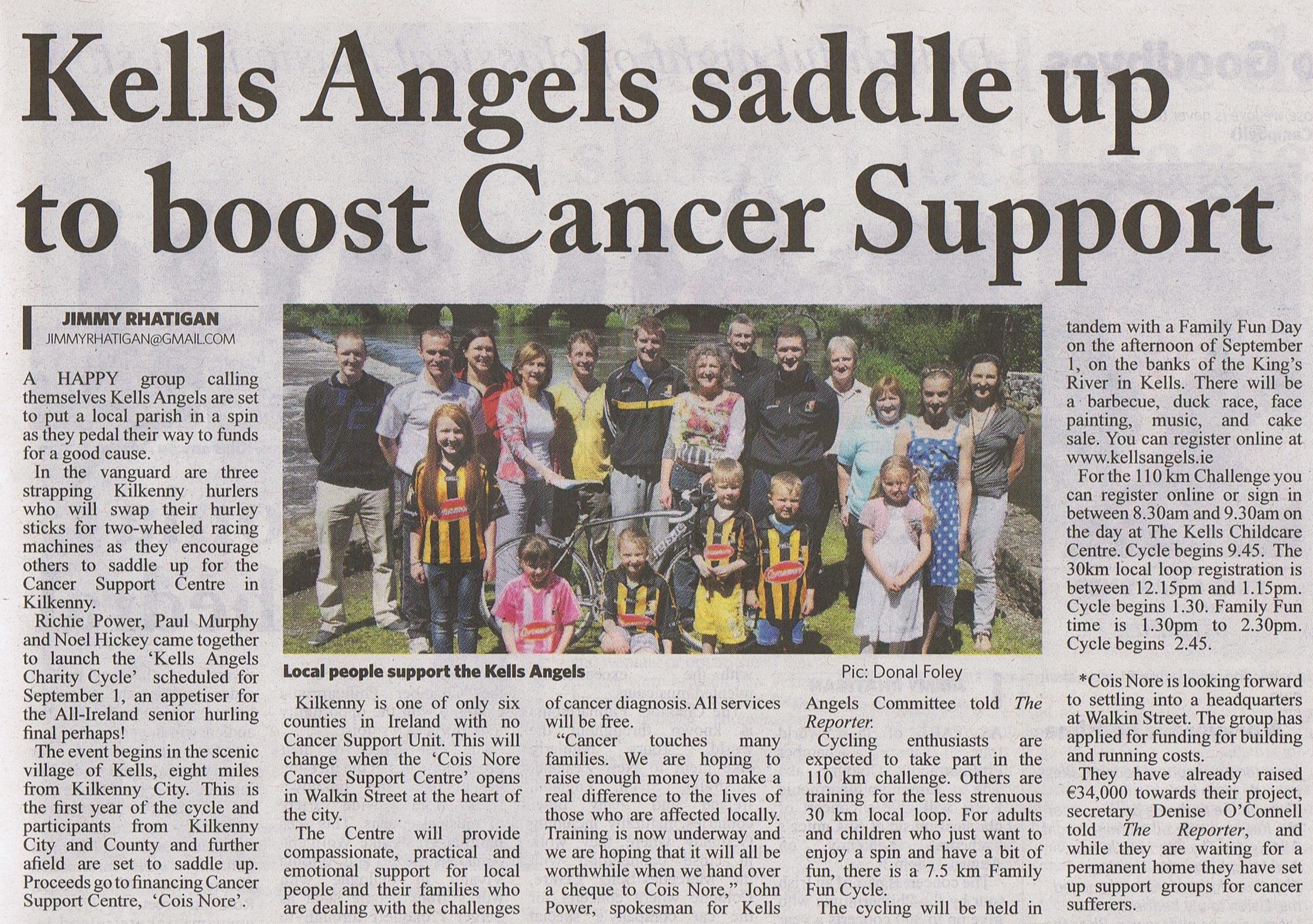 Kells Angels Saddle Up To Boost Cancer Support - Kilkenny Reporter