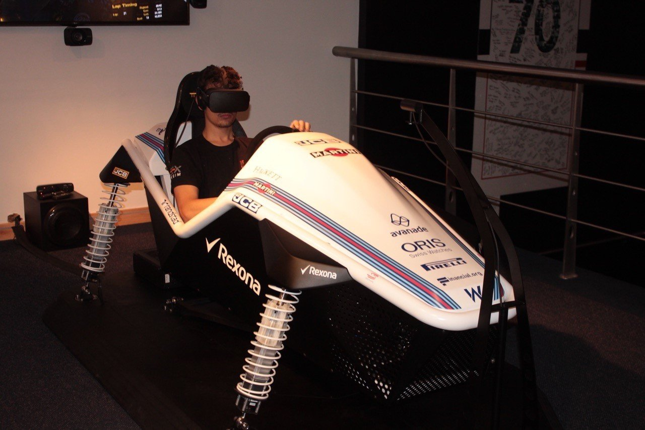 Race car simulator Williams F1