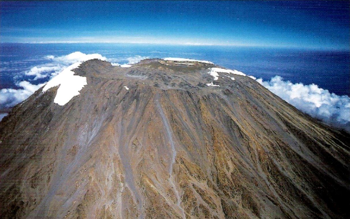 Gipfelregion des Kilimandscharo