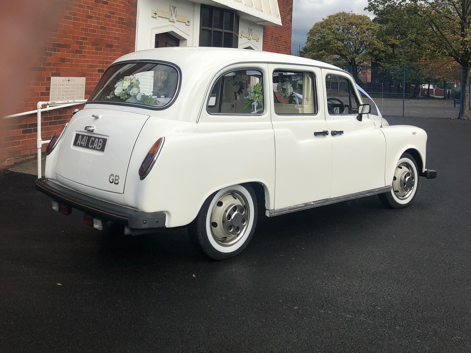 film prop wedding car wedding taxi prop