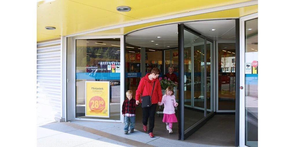 drsna vrtljiva vrata za trgovski center