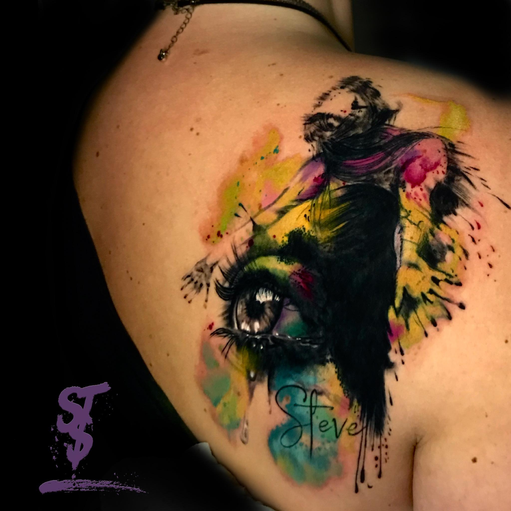 eye watercolor tattoo