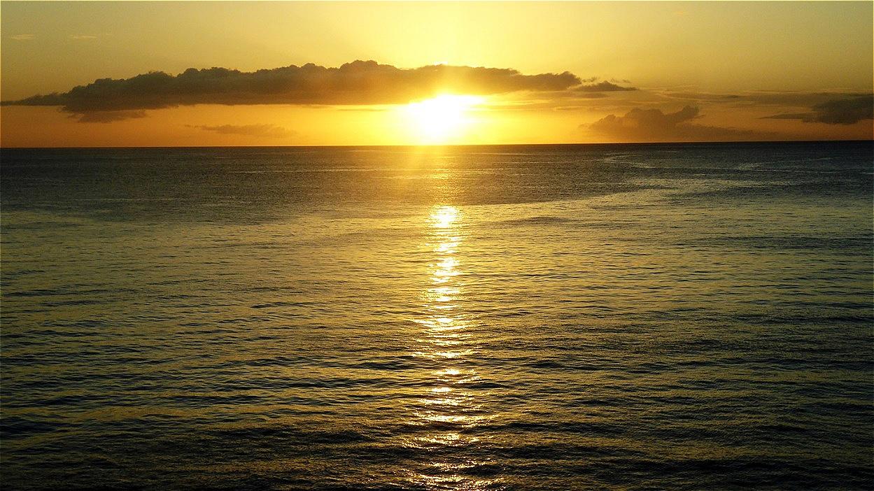 Karibik-Sonnenuntergang