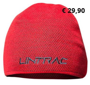 """Lintrac Mütze  Innovative Wintermütze in 3D- Strick mit integriertem Fleece- Stirnband; eingewebter Traktor  und gesticktes Lintrac-Logo,  Qualität """"Made in Germany""""  Artikelnummer: 4008778 € 29,90"""