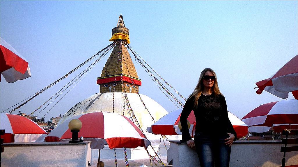 Katmandu - vor der Stupa Bodnath März 2012