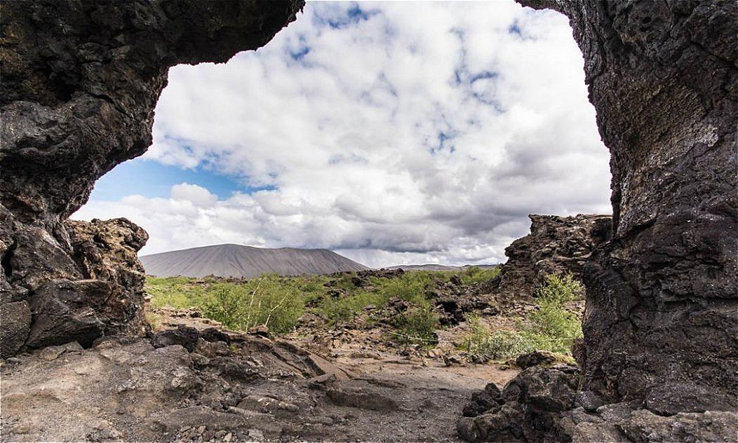 Blick durch ein Lavafenster