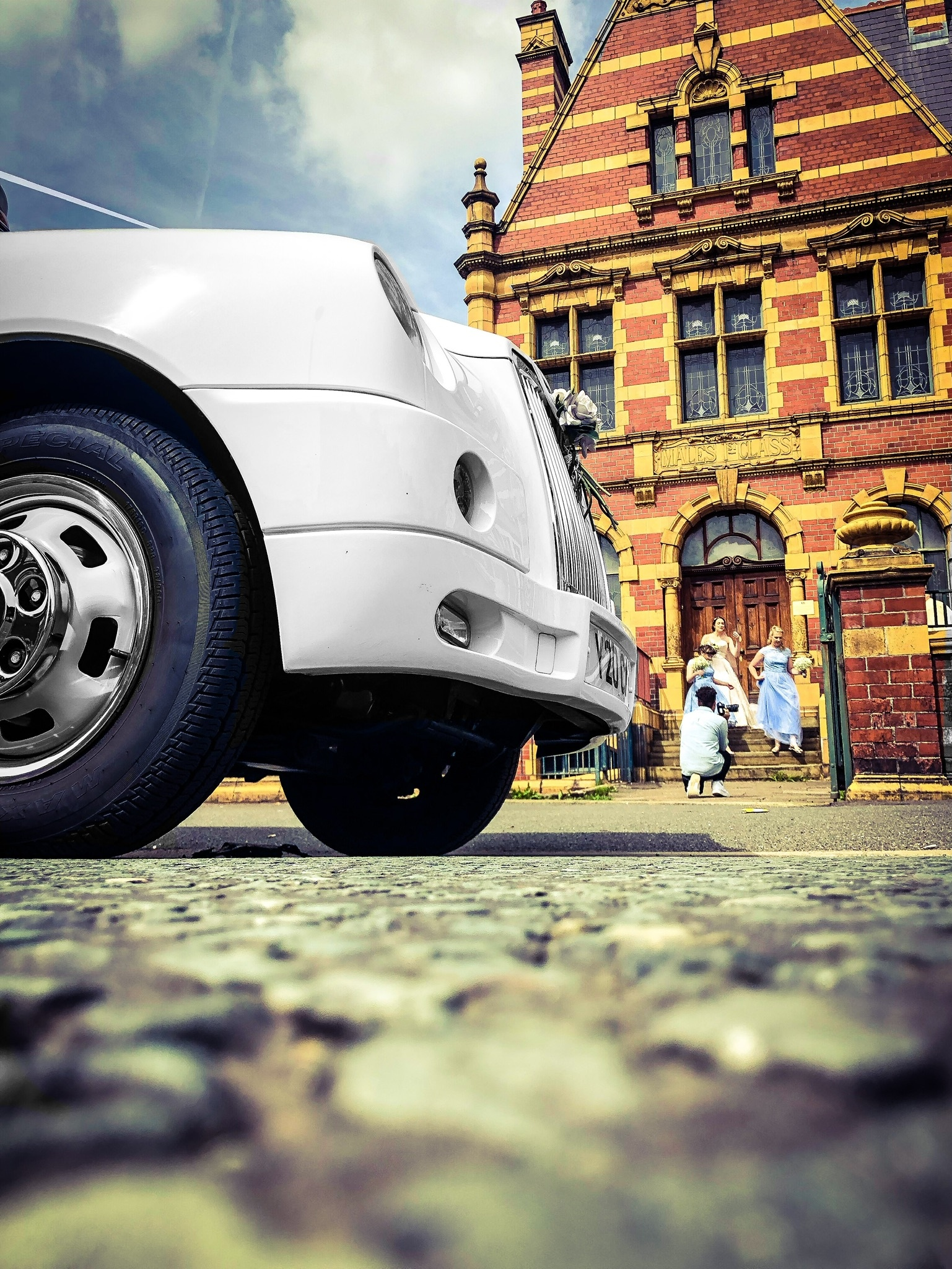 victoria baths manchester wedding taxi