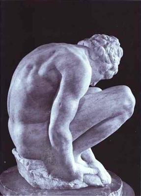 SCULPTURE: L'homme à genoux Michel Ange