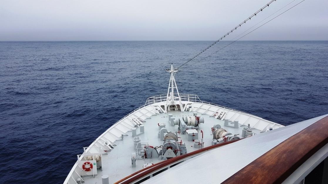 Ruhige See in der Drake Passage - eine Seltenheit !