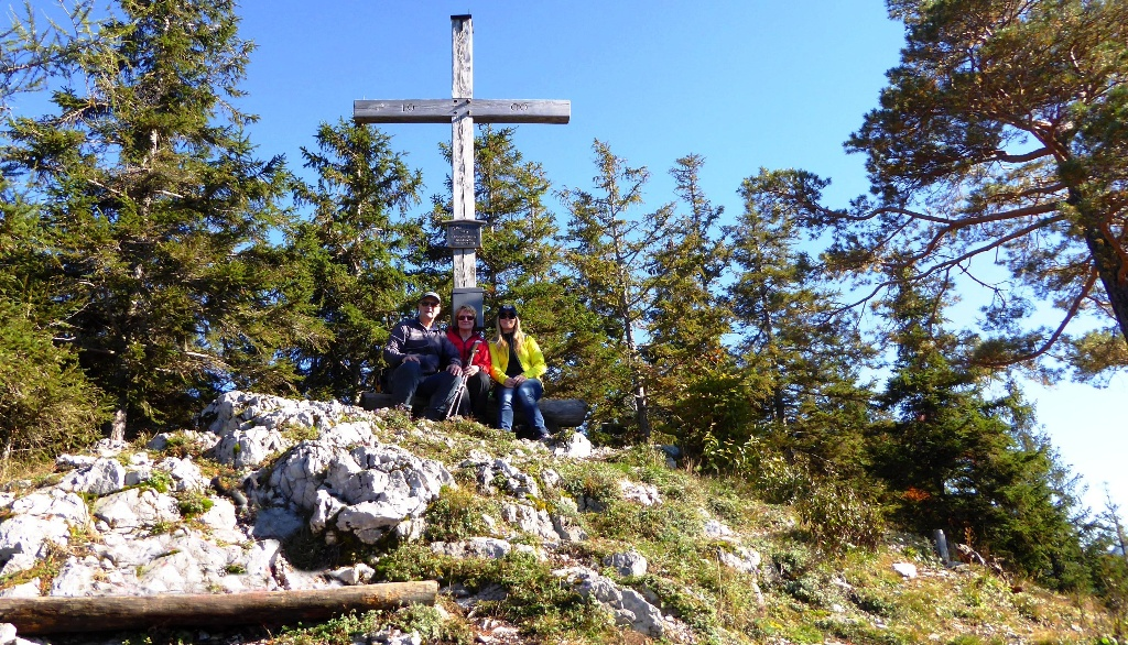 Trio auf dem Gipfel