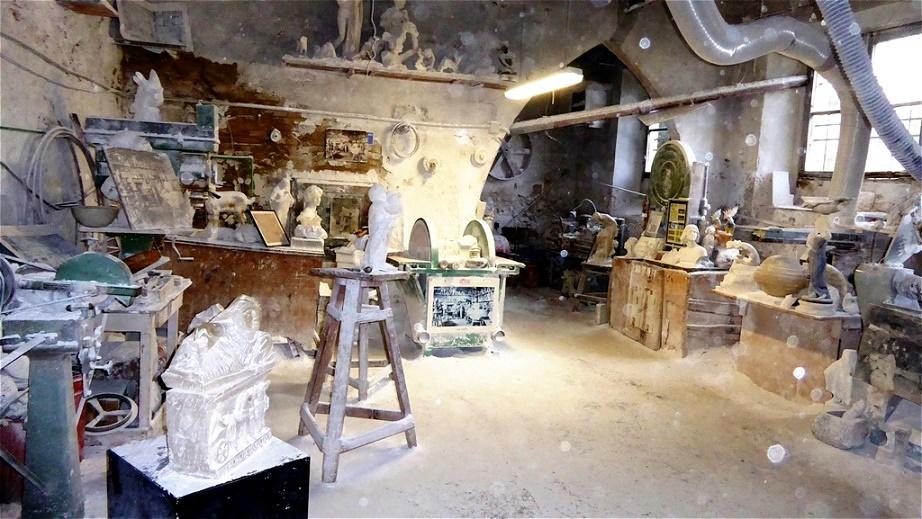 Besuch in einer Alabasterwerkstatt