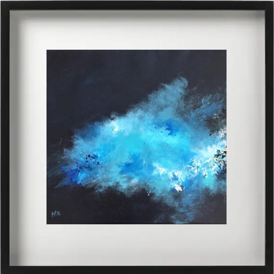 """""""Ibis E2"""" H40x40 cm - Framed 52x52 cm - Acrylic on canvas -"""