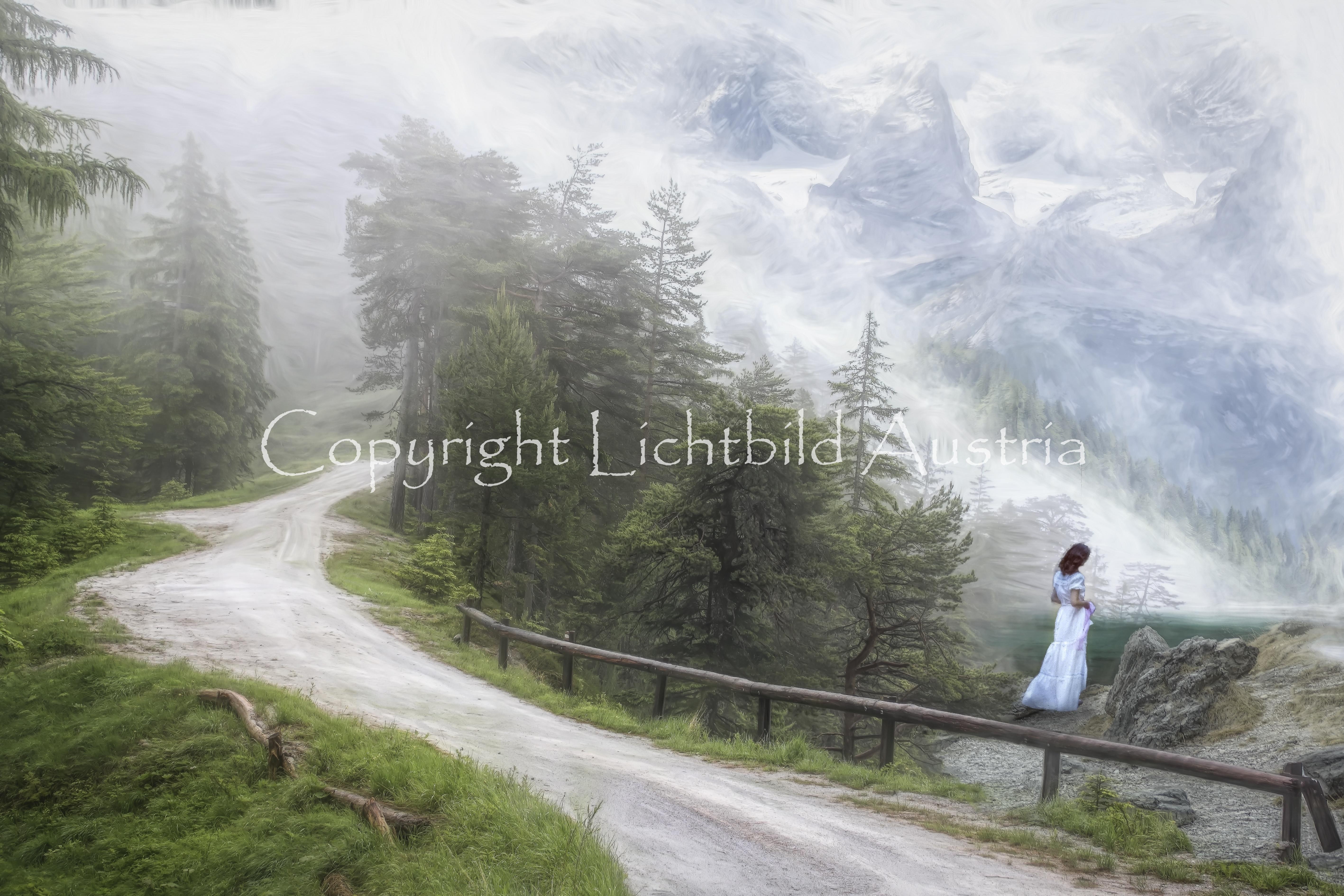 Die weiße Frau vom Bergsee