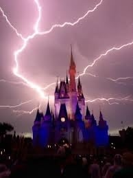 Lightning Over Magic Kingdom
