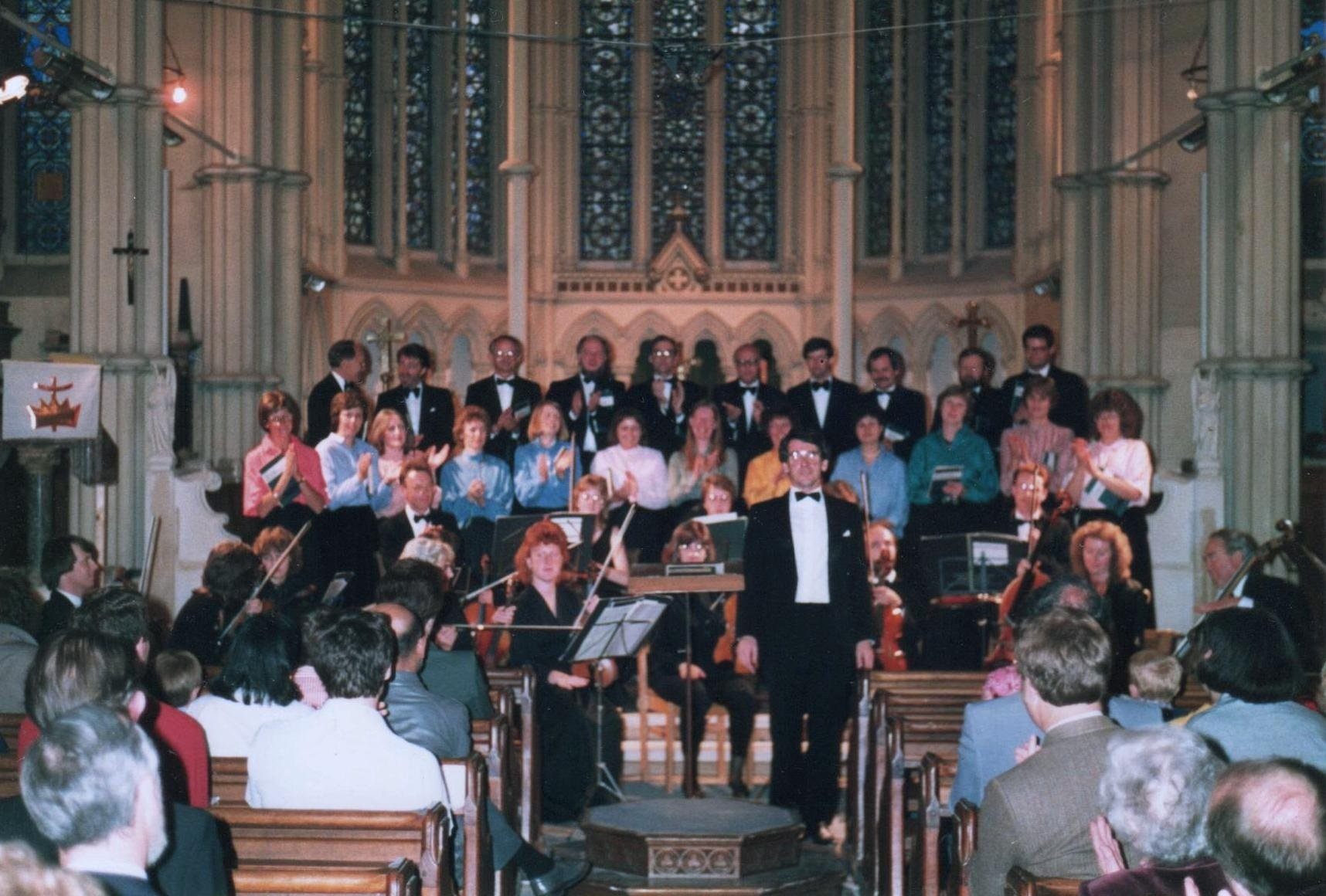 With Le Corde orchestra at St Mary's, Andover (July 1988)