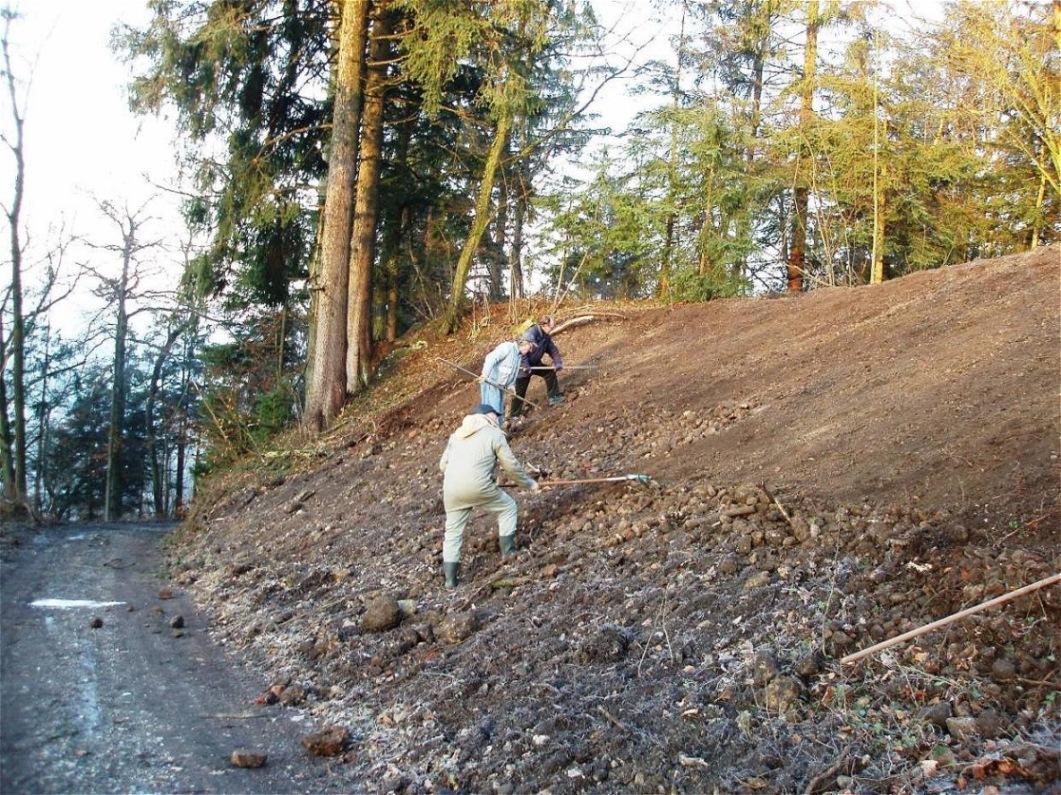 14. Jänner 2008 - Vorbereitung des Hanges