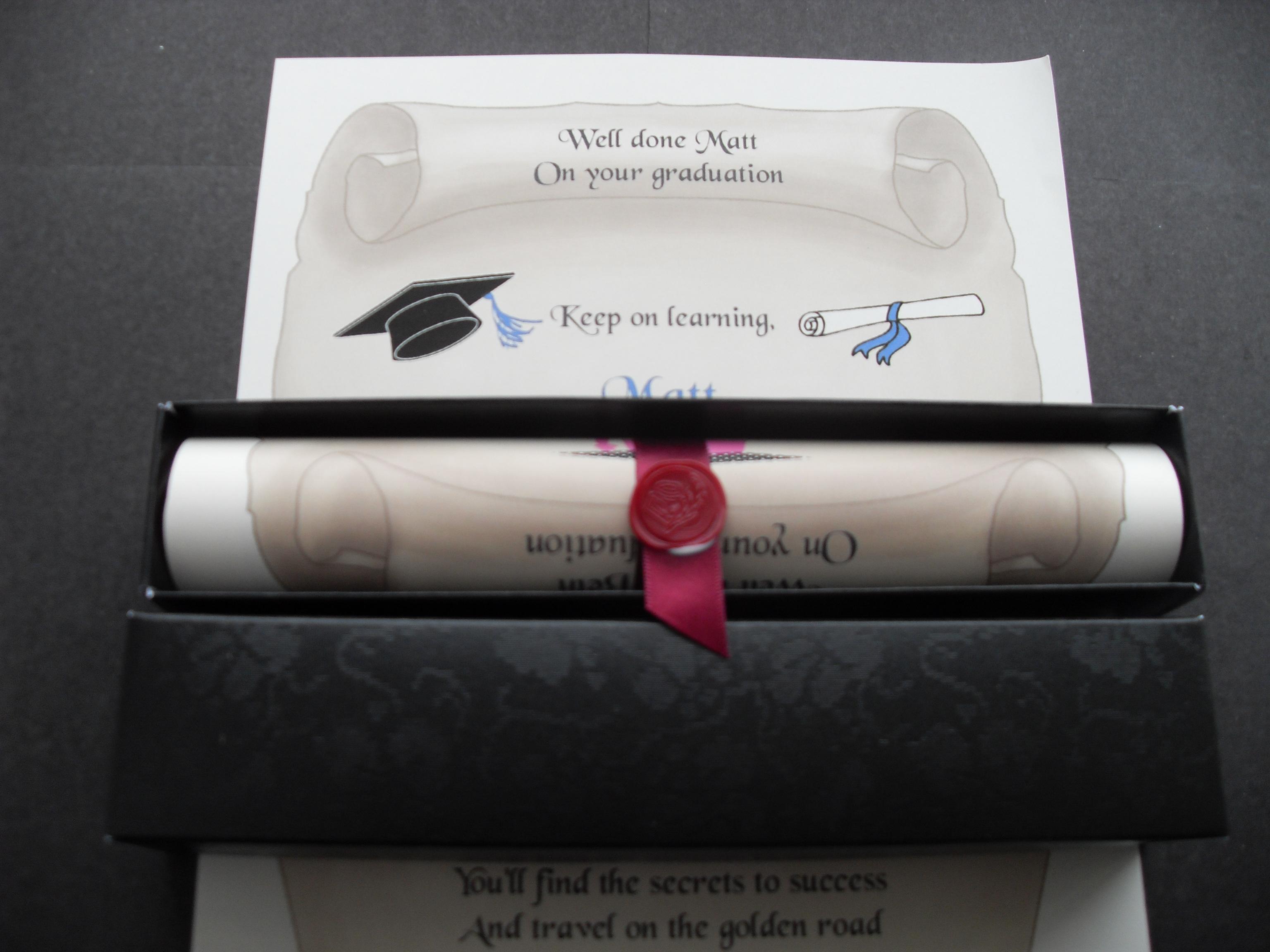 A4 graduation scroll