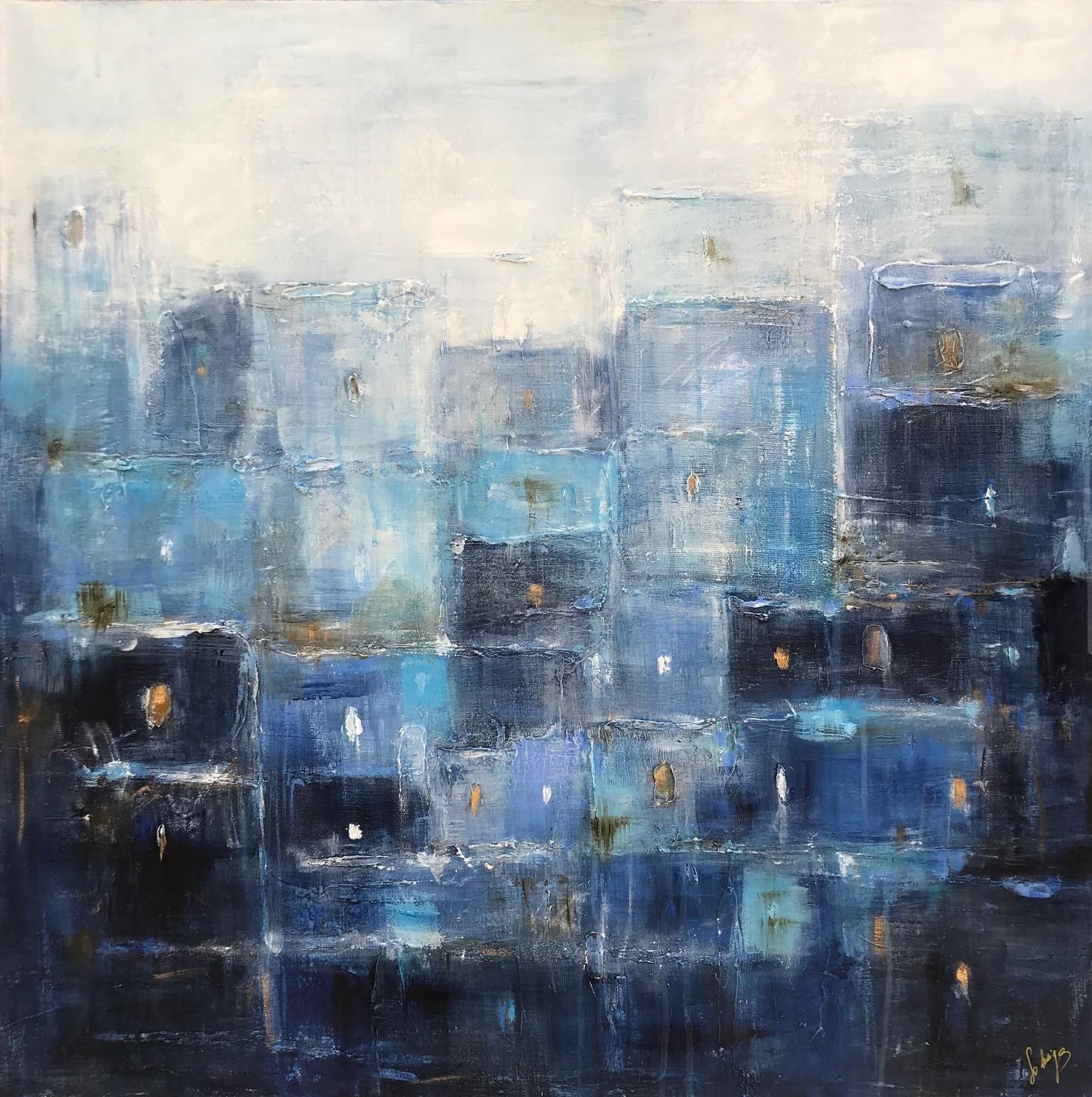 Blue Memories (painting galerie art robert deniau mougins)