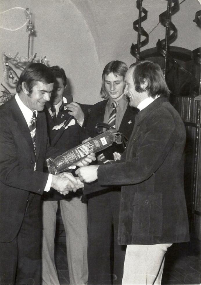Weihnachtsfeier 1975 - Sektionsleiter Hubert Häuslmann sen.