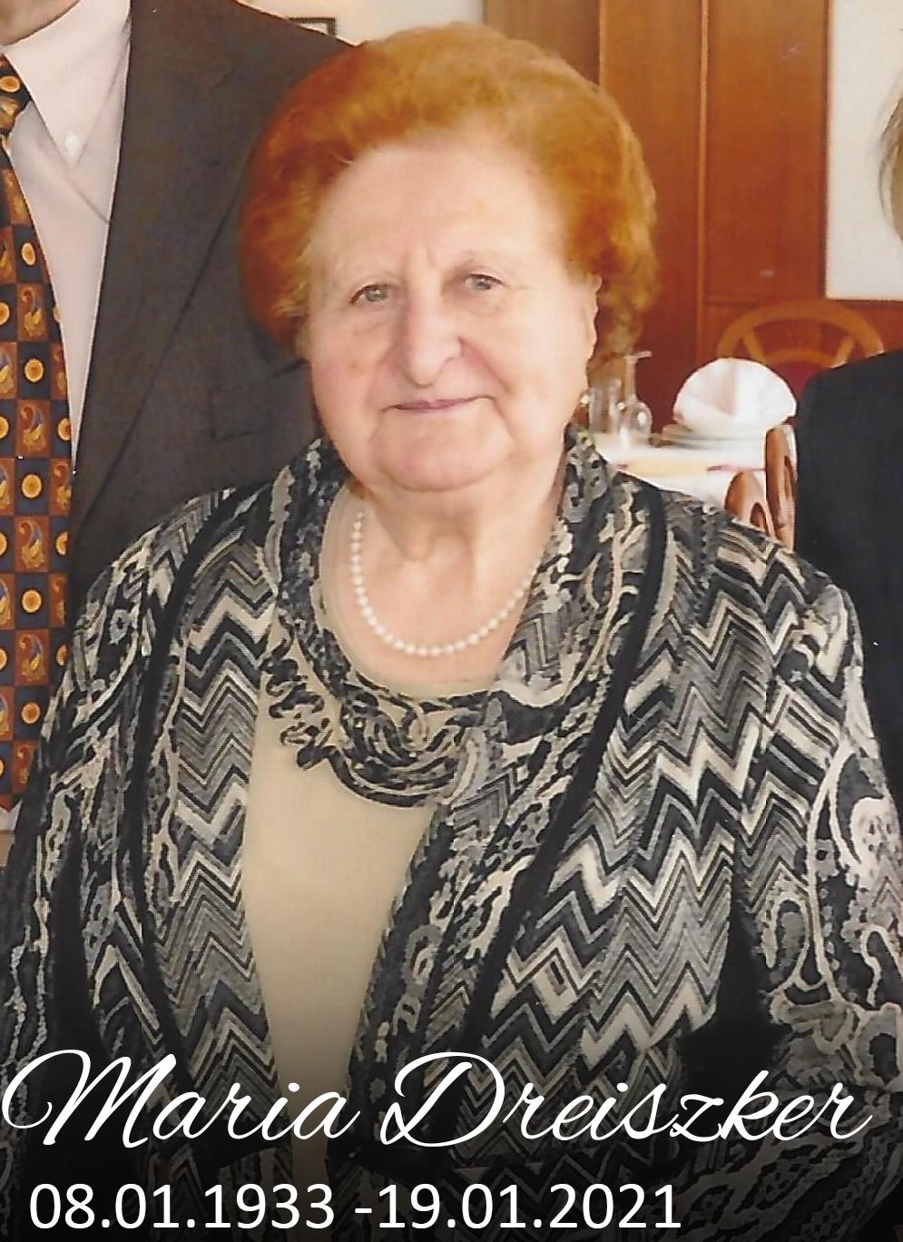 Gedenkseite Maria Dreiszker