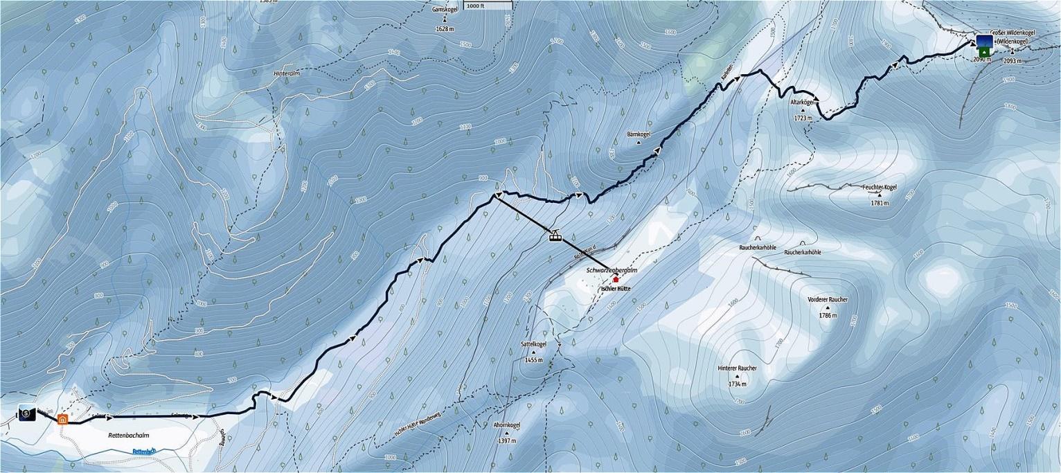 28. März 2021  Schönberg-Totes Gebirge-von Rettenbachalm aus
