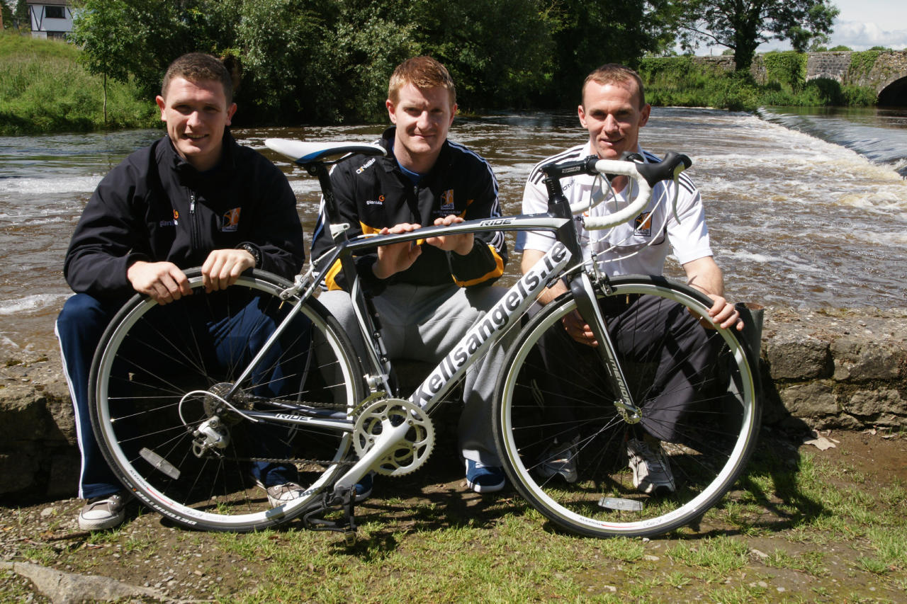 Paul Murphy, Richie Power and Noel Hickey in Kells launching the Kells Angels Charity Cycle