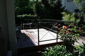 Terrasse avant l'aménagement paysager