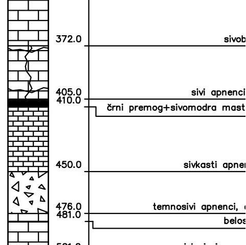 Geološki profil vrtine