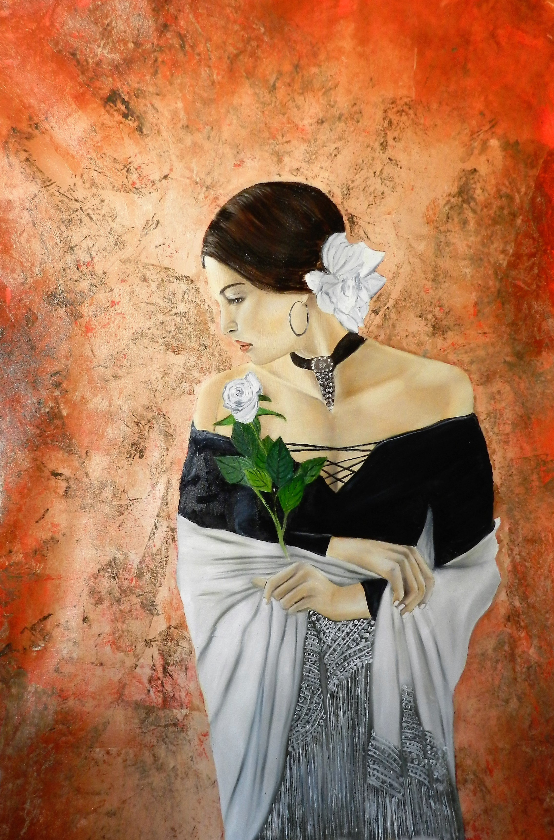 With rose 115x 80