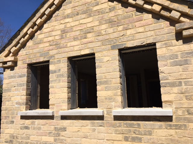 End of Week 10 The window sills have been fitted 23.04.21