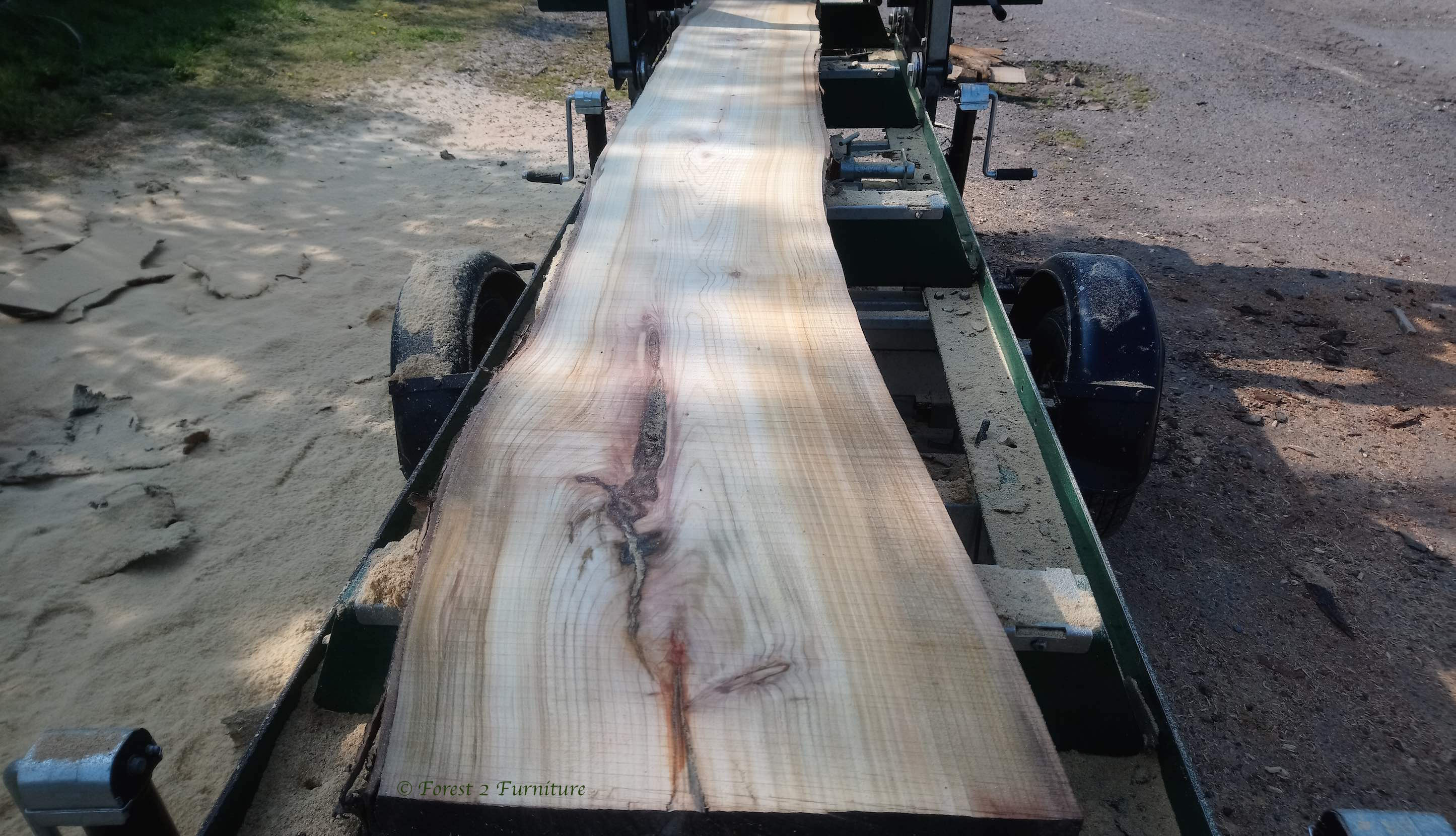 Cherry planks milled