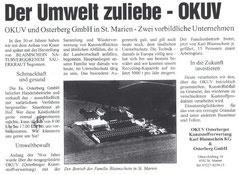 1999: Der Umwelt zuliebe - OKUV  (Steyrer Rundschau)