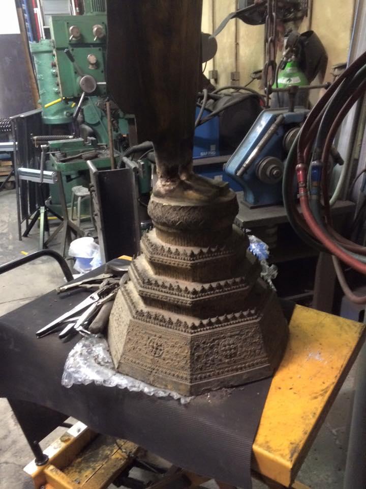 Réparation sculpture ancienne