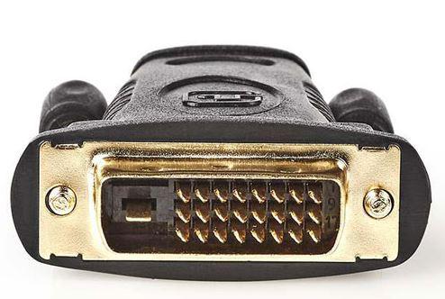 Αντάπτορας DVI-D 24+1p αρσ. - HDMI θηλ., με επίχρυσες επαφές.