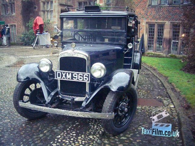Midnight Blue Austin Taxi 1935, Bolton ref B0307