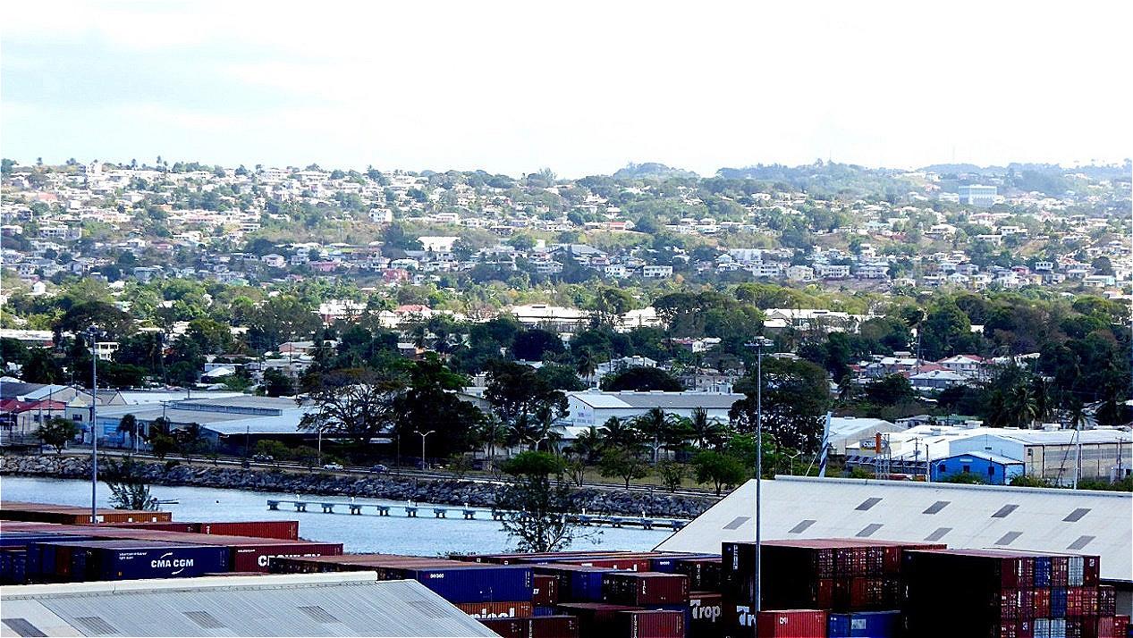 Blick auf Bridgetown