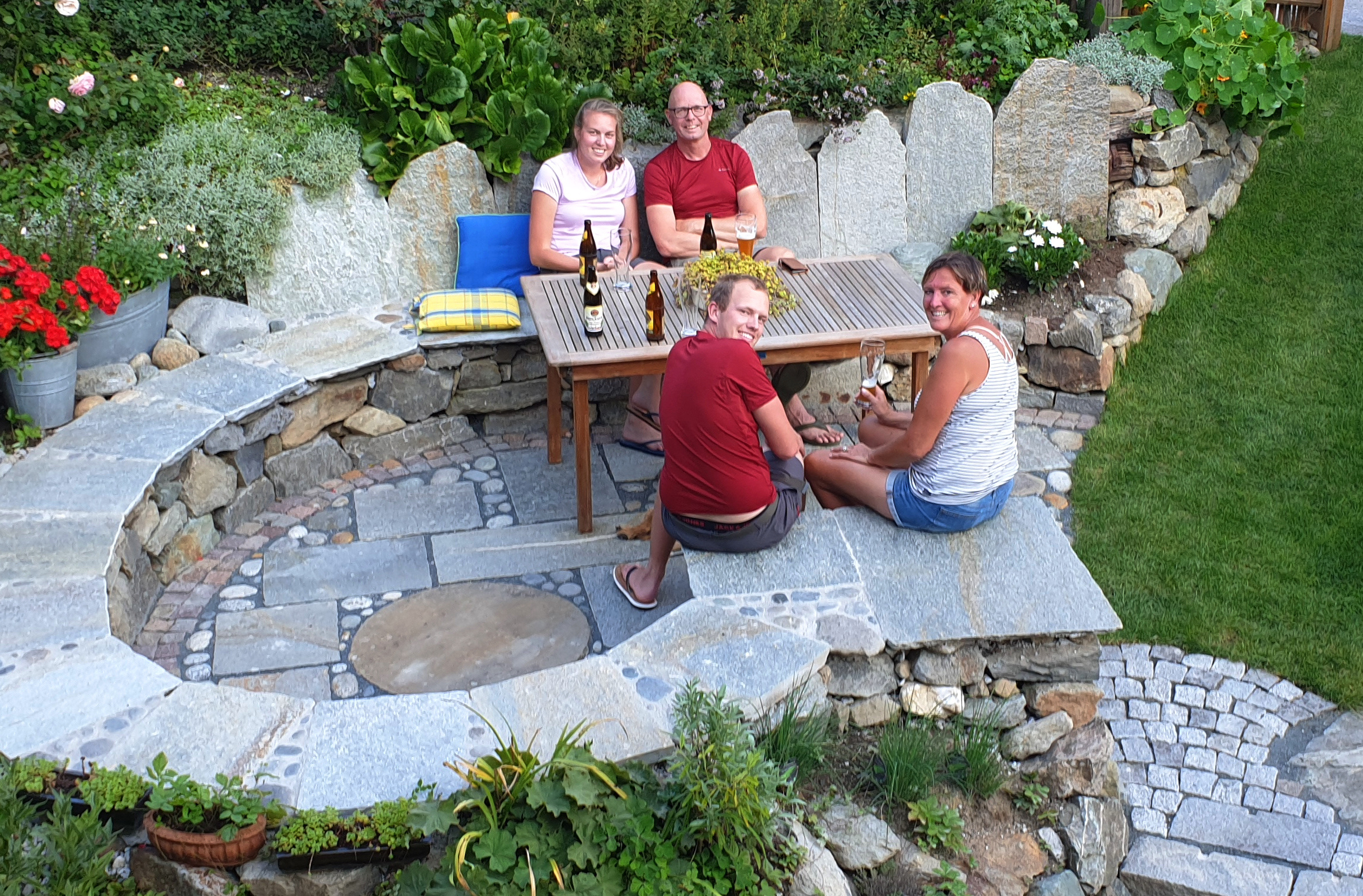 Sitzplatz im Garten