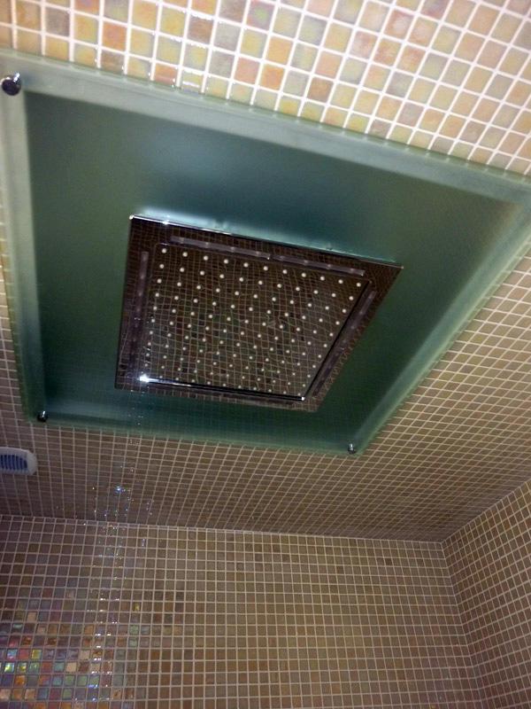 Plafonnier de douche encastré - Après
