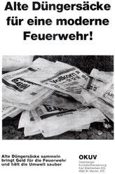 1974:  Sammelaktion mit den OÖ           Feuerwehren (Flugblatt)