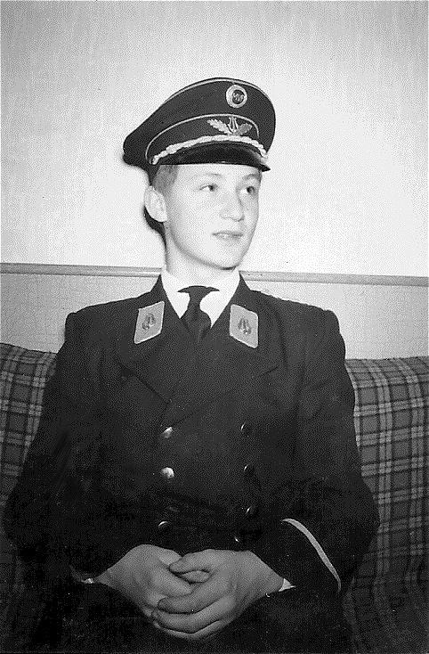 Stolzes Mitglied der Musikkapelle Pichl bei Wels - 1963