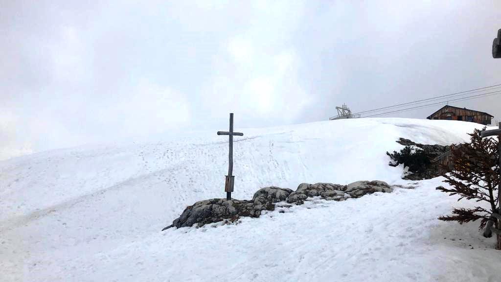 2. April 2021   Krippenstein - Aufstieg von Obertraun aus