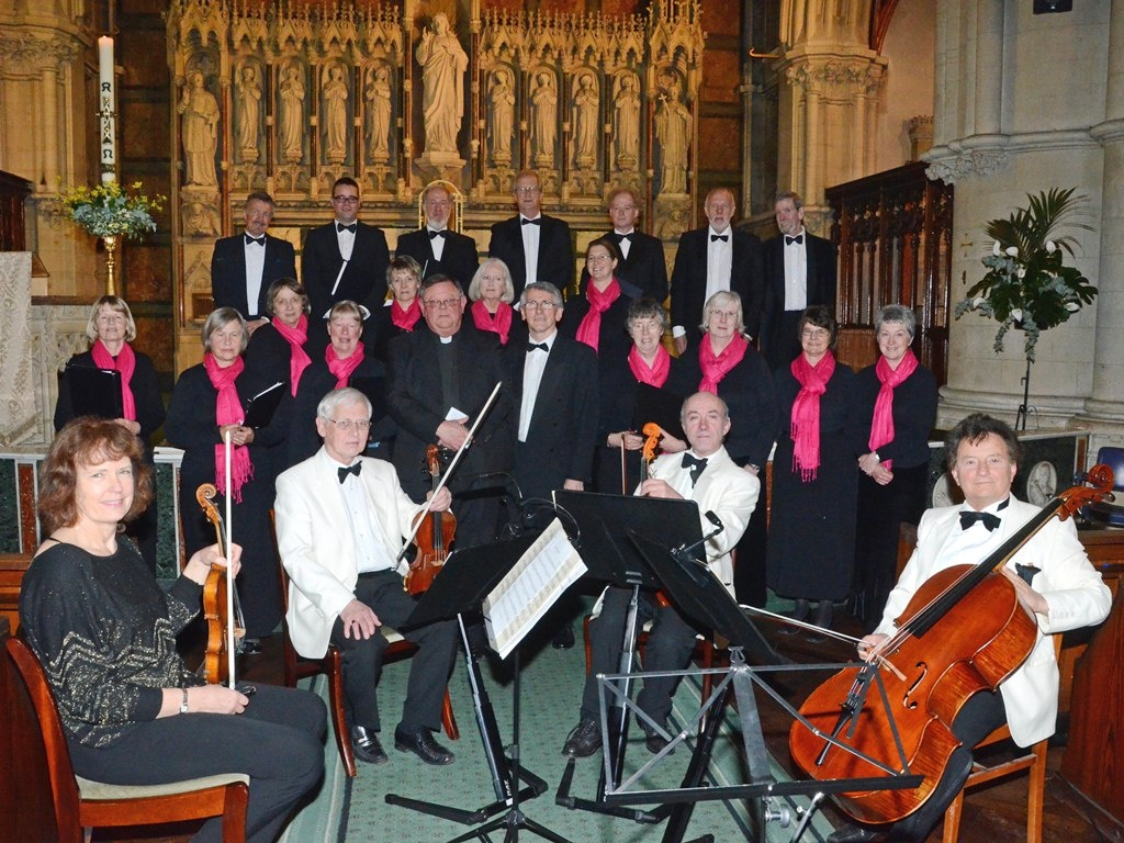 With Fr Bruce Barnes and the Grainger String Quartet at Sacred Heart, Bournemouth (April 2012)