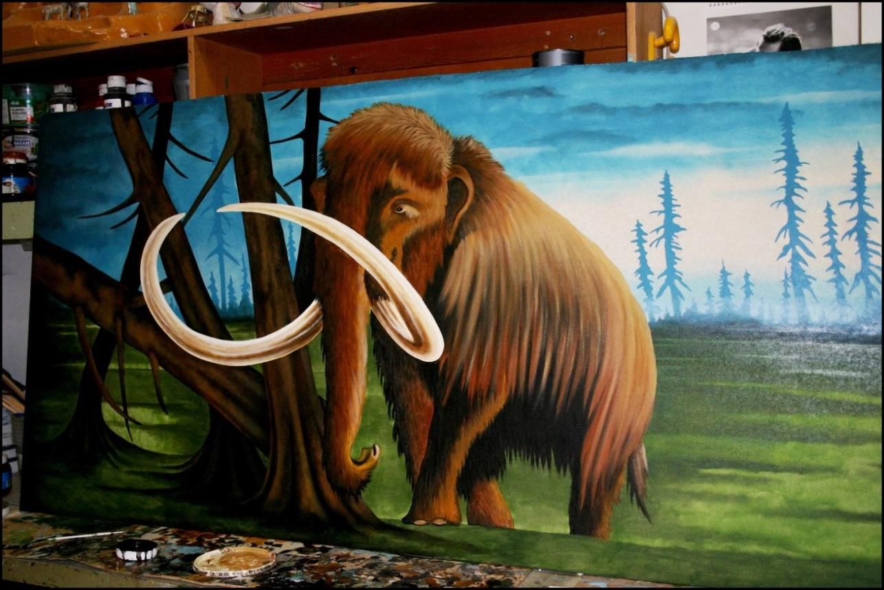 Malen in der Werkstatt