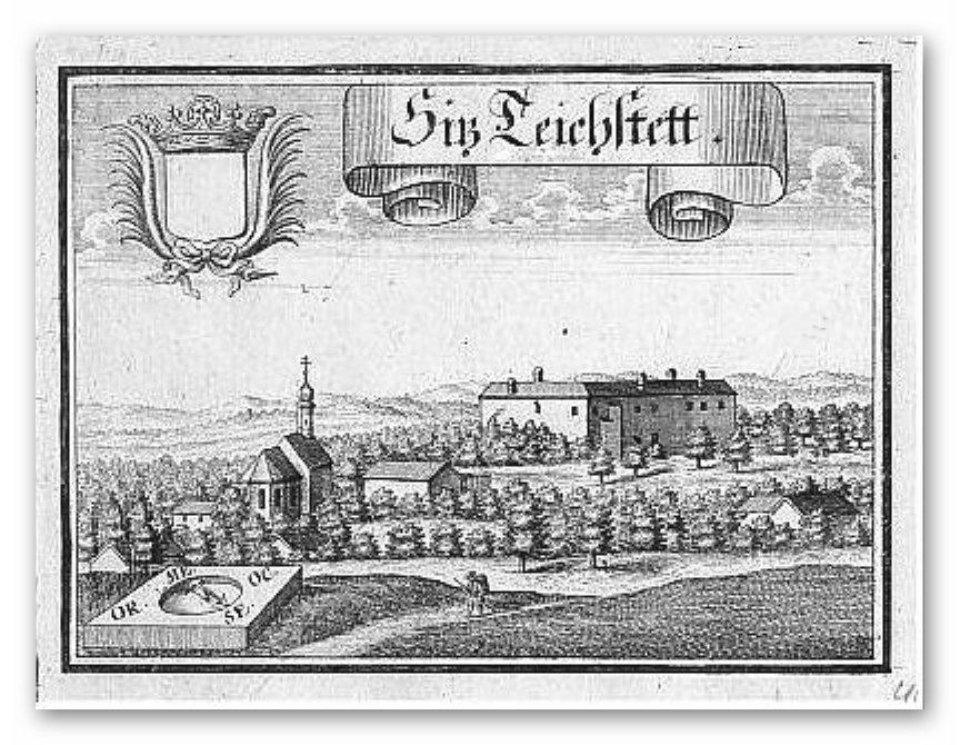Schloss Teichstätt - Kupferstich von Michael Wening
